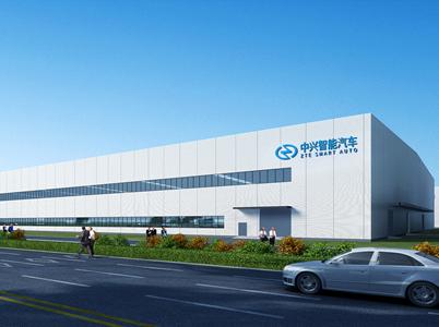 珠海中兴智能汽车厂房无机涂料工程