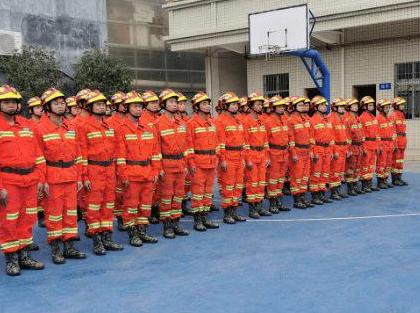 广东罗定消防中队无机涂料工程