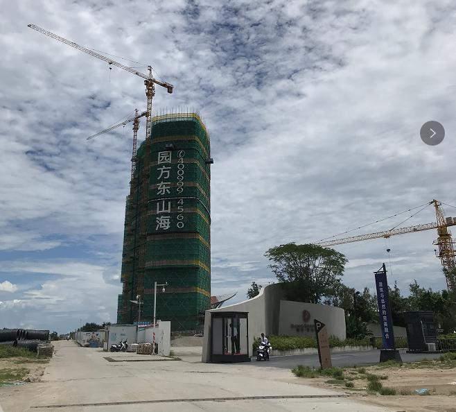 惠东县东山海海盐养生涂装项目现场施工效果图